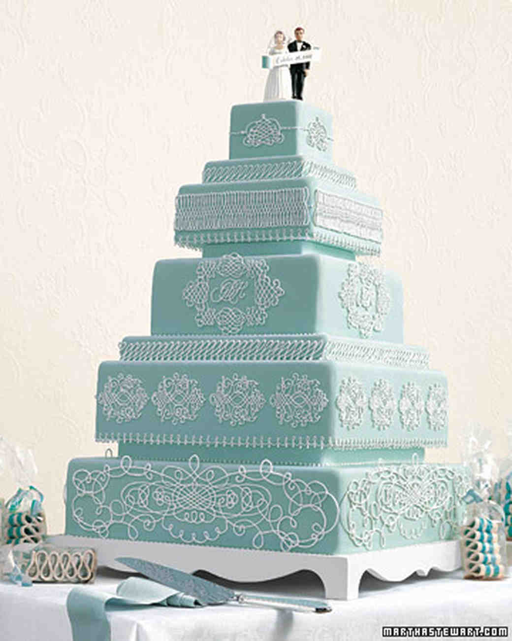 Something Blue Wedding Cakes