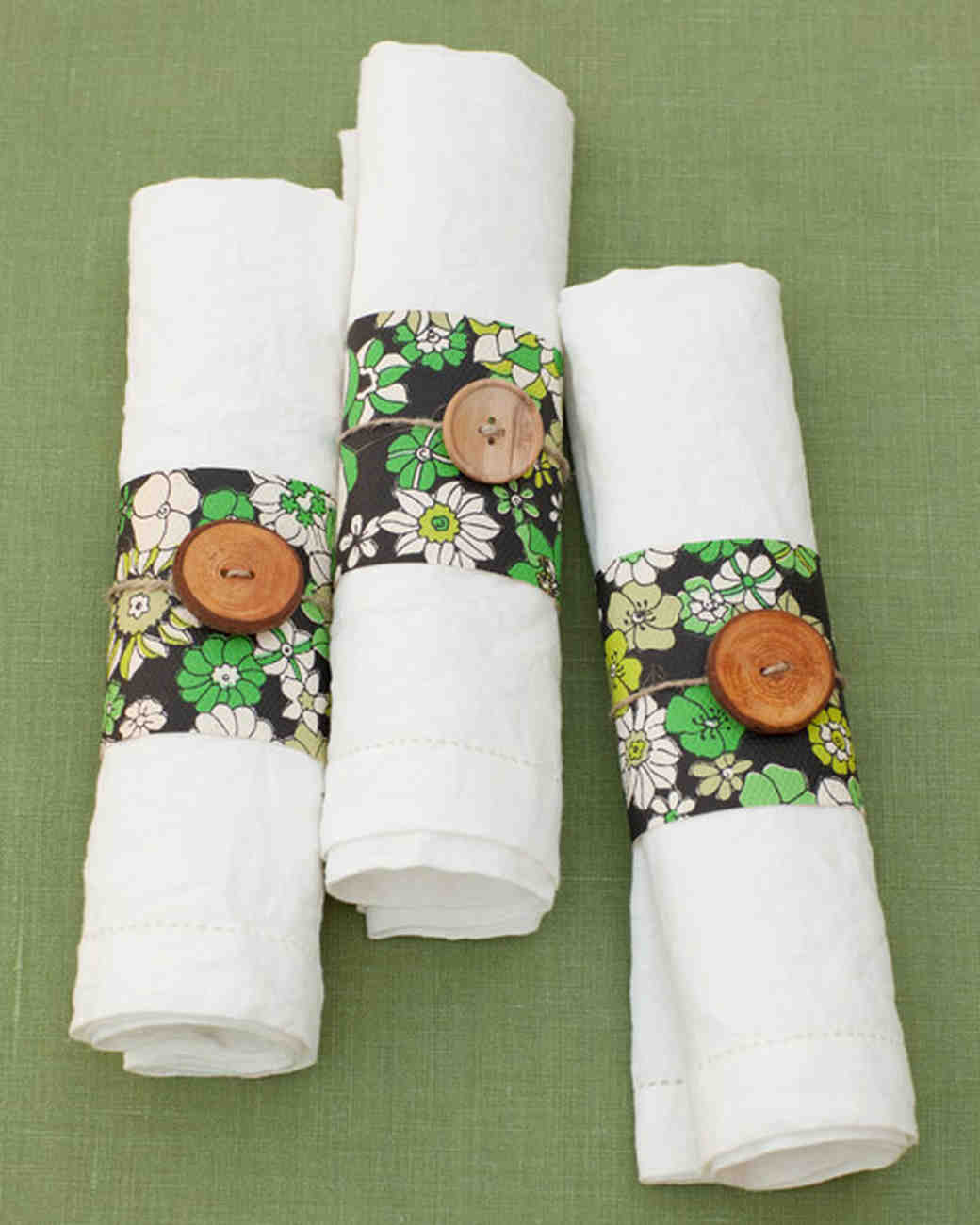 Personalized napkin ideas martha stewart weddings wallpaper napkin rings solutioingenieria Images