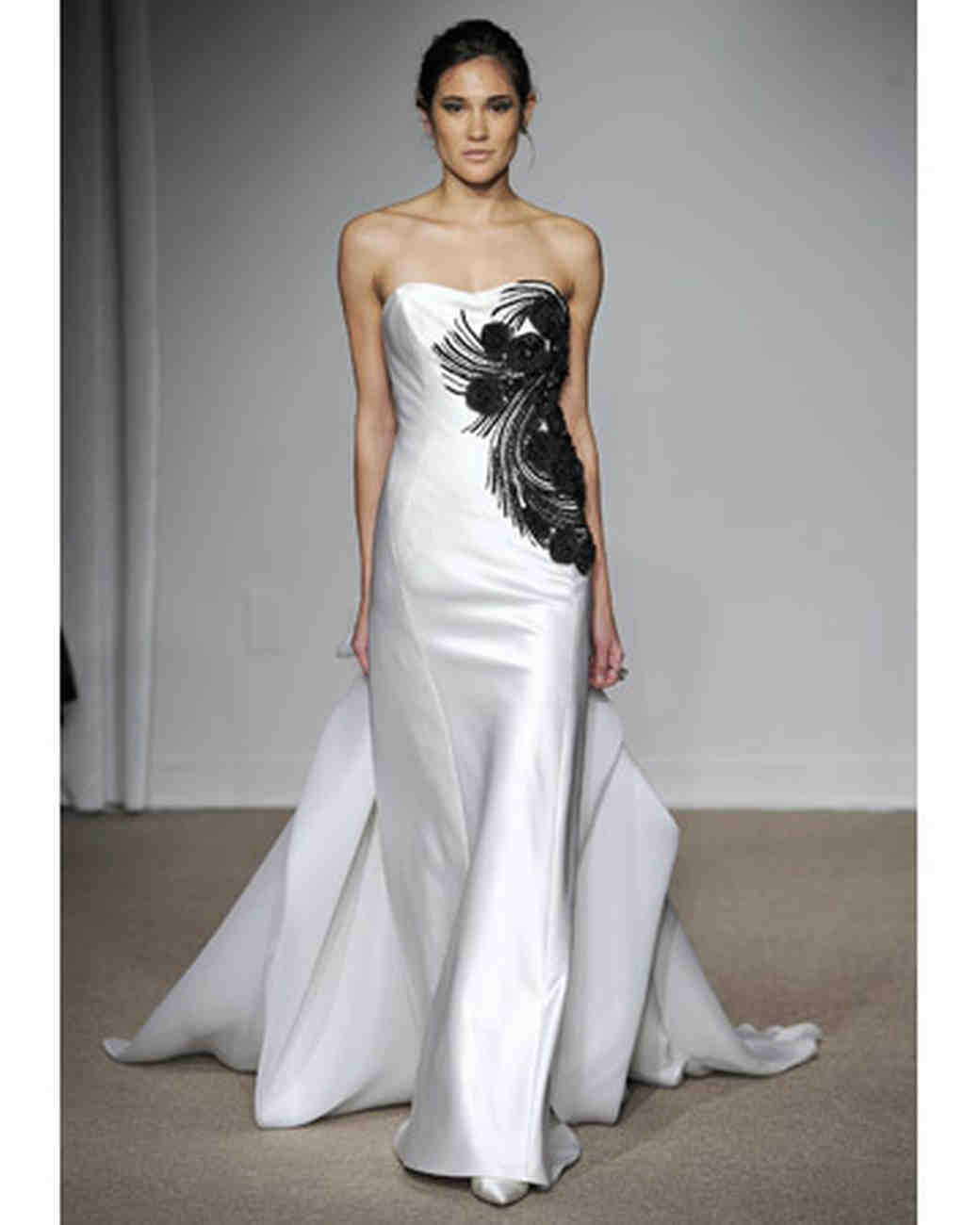 Wedding dresses with black
