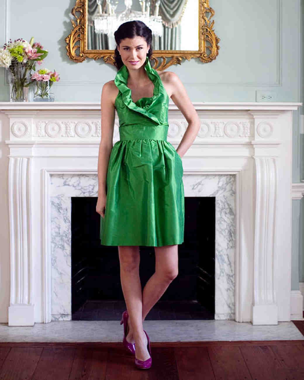 Green bridesmaid dresses martha stewart weddings ombrellifo Image collections