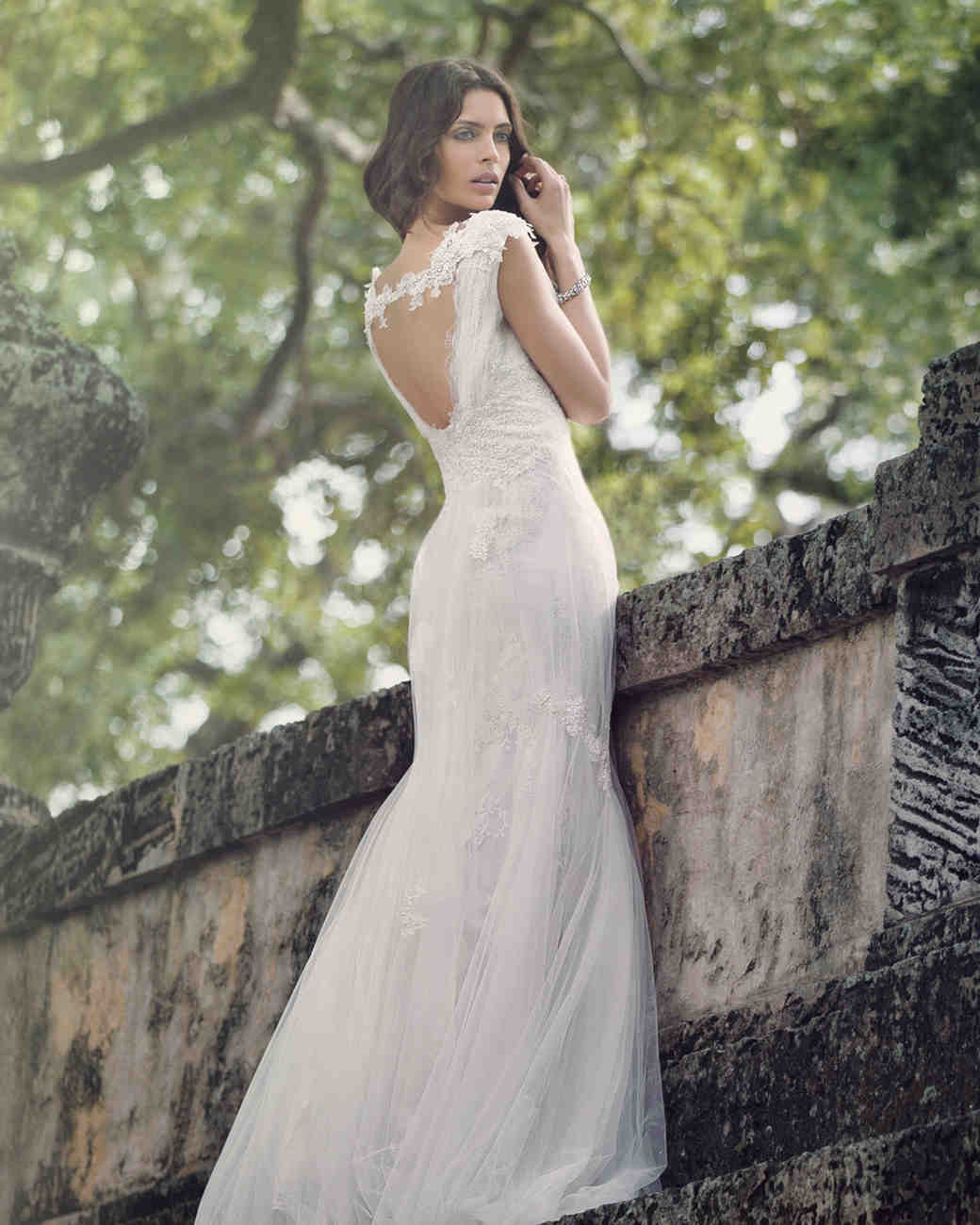 Showstopping wedding dresses martha stewart weddings open lace back junglespirit Choice Image