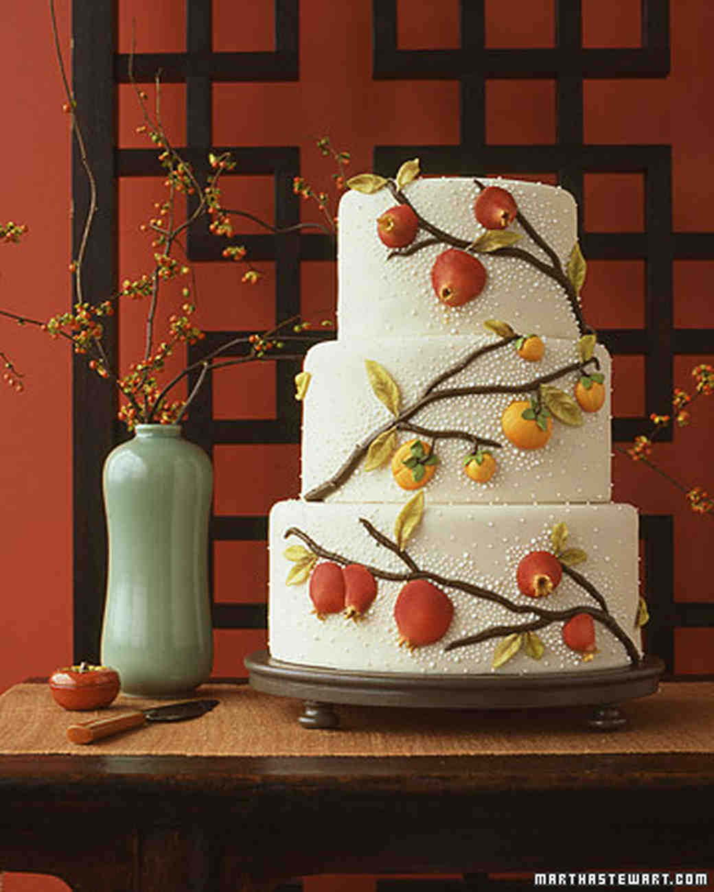 Asian Fruit Wedding Cake