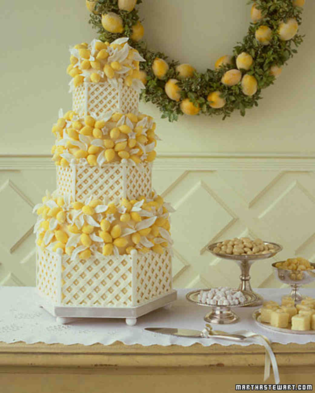 Chocolate-Lemon Wedding Cake