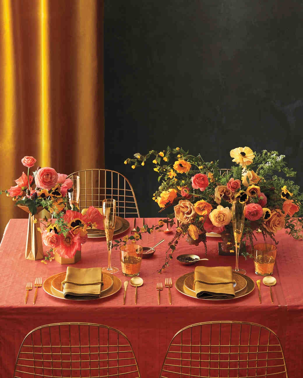 6 Ways To Pull Off A Coral And Gold Color Palette Martha Stewart