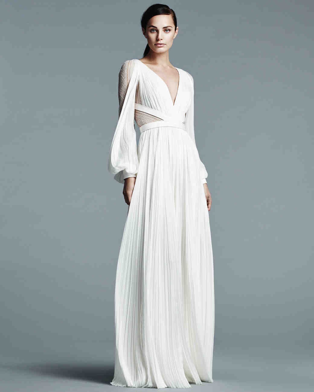 J. Mendel Simple Wedding Dress