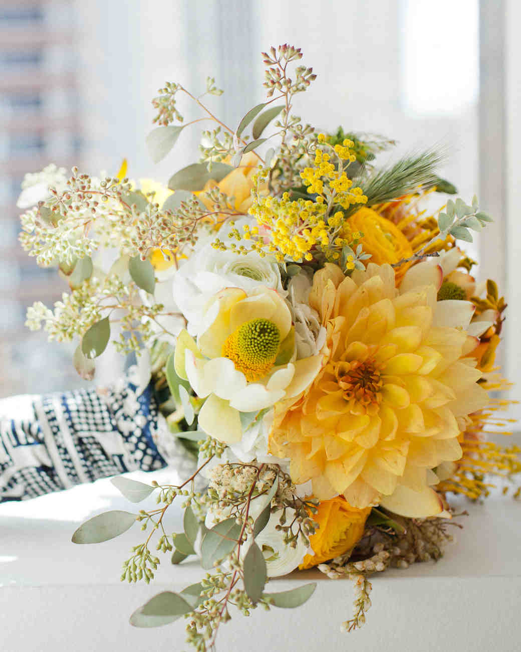 Yellow wedding bouquets martha stewart weddings photography jennifer young mightylinksfo