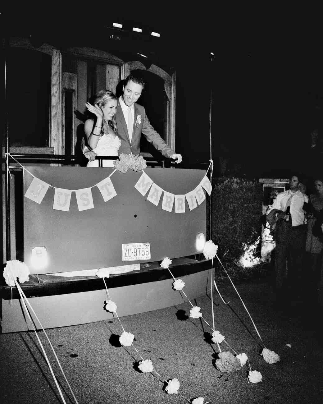 trolley wedding getaway