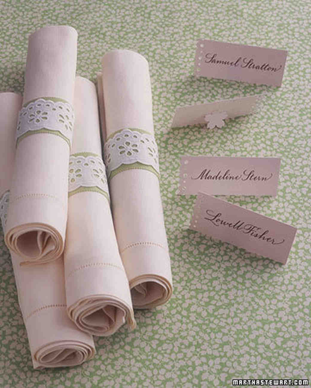 Personalized napkin ideas martha stewart weddings eyelet napkin rings solutioingenieria Images