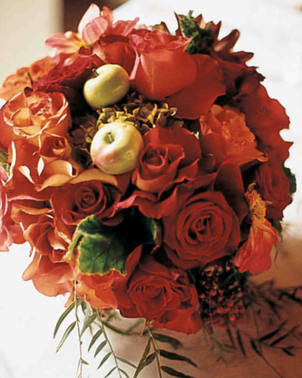 Orange Rose and Crab Apple Bouquet