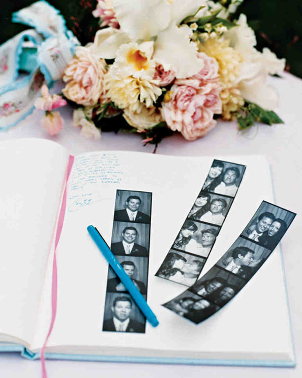 A Traditional Pale-Blue-and Pink Wedding at Home in California ...