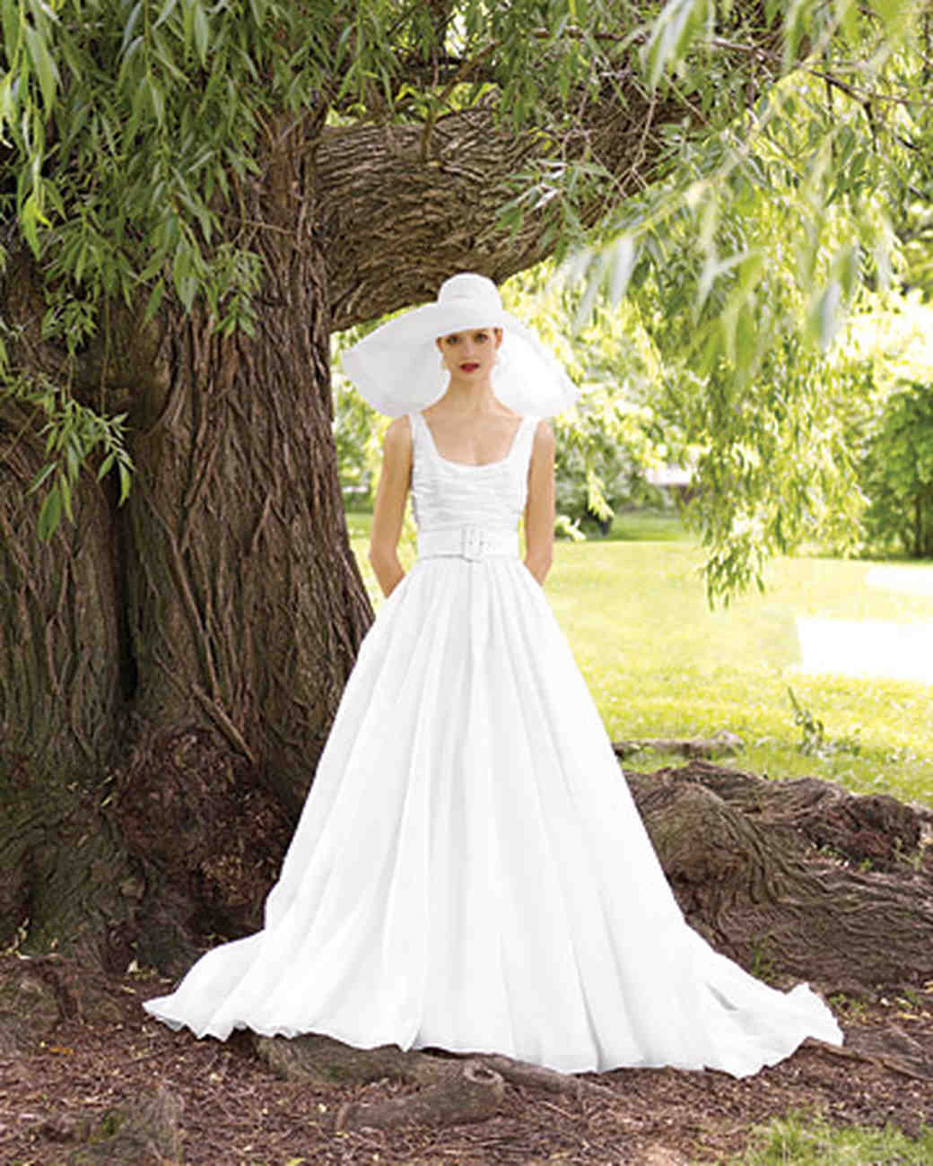 Perfect gowns for an outdoor wedding martha stewart weddings organza ball gown junglespirit Choice Image