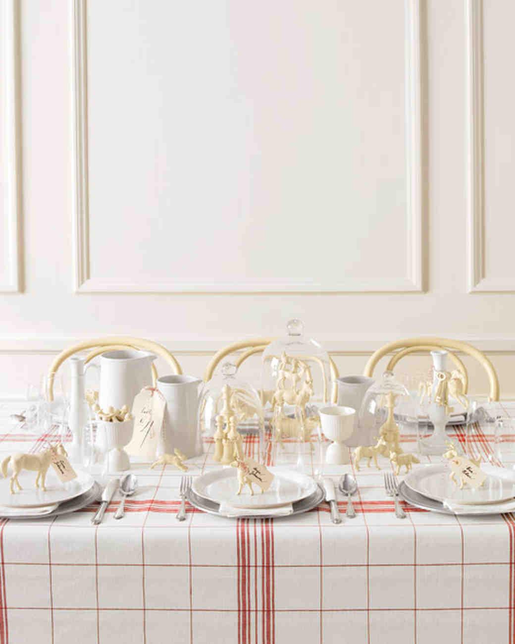 Swedish-Chic Wedding Table Setting & Stylish DIY Wedding Table Settings | Martha Stewart Weddings