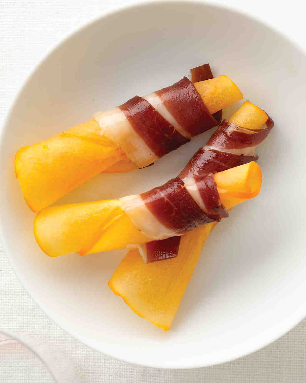 Persimmon Wrapped with Duck Prosciutto