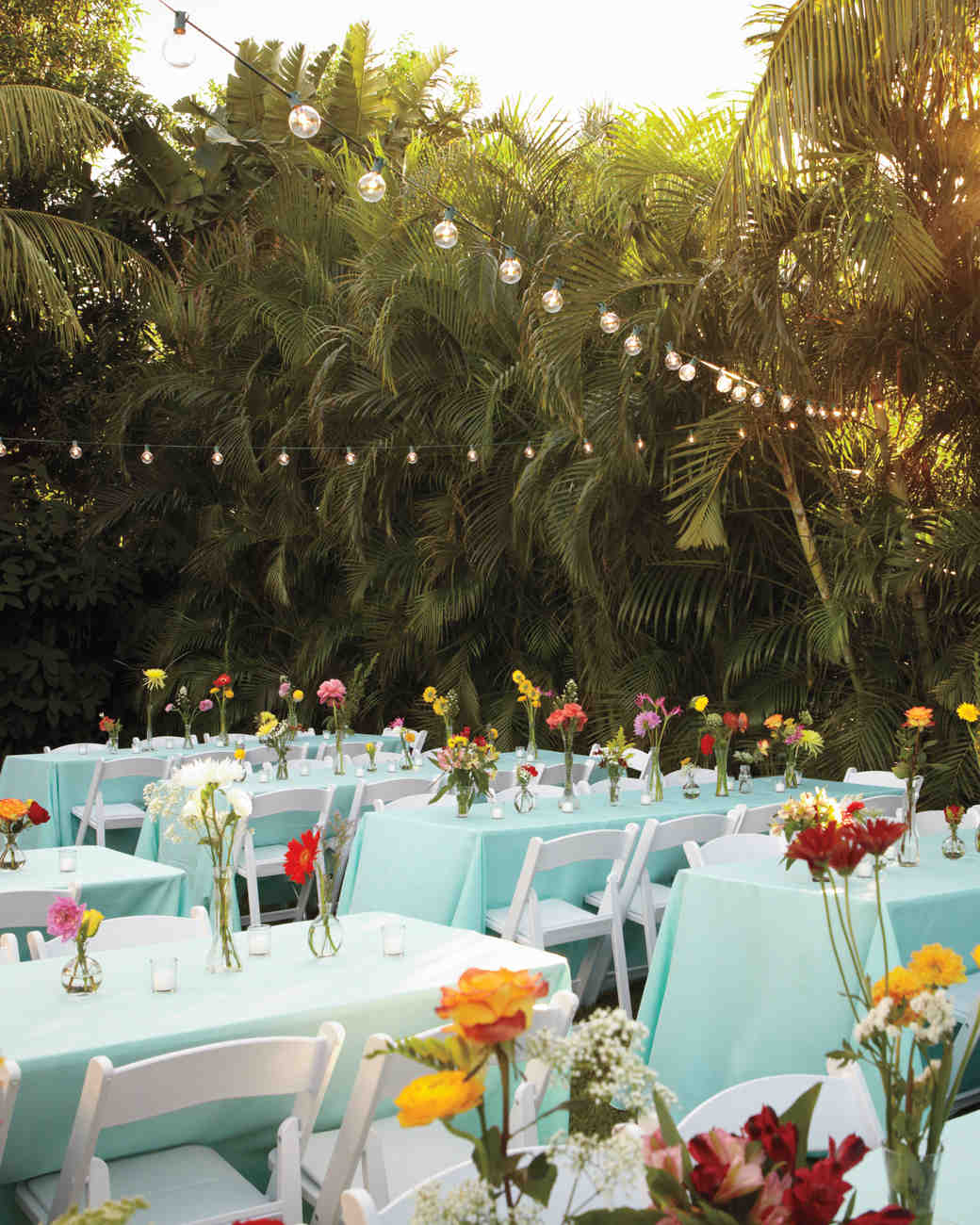 16 things you need to know to pull off an outdoor wedding martha consider your locales pros and cons a backyard junglespirit Image collections