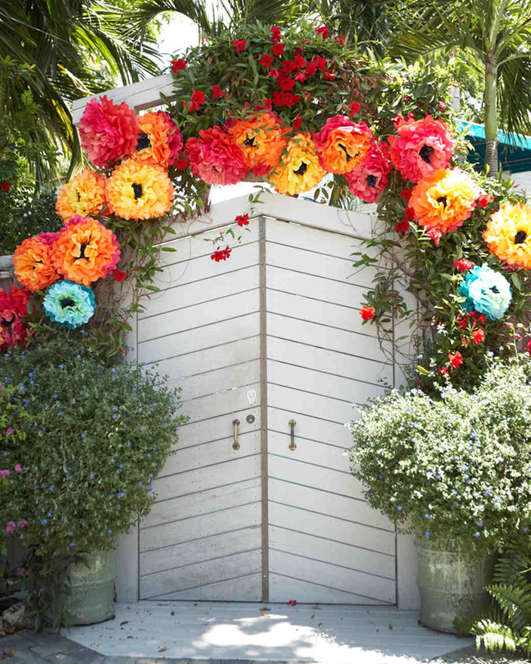 Colorful Paper Flower Wedding Arch