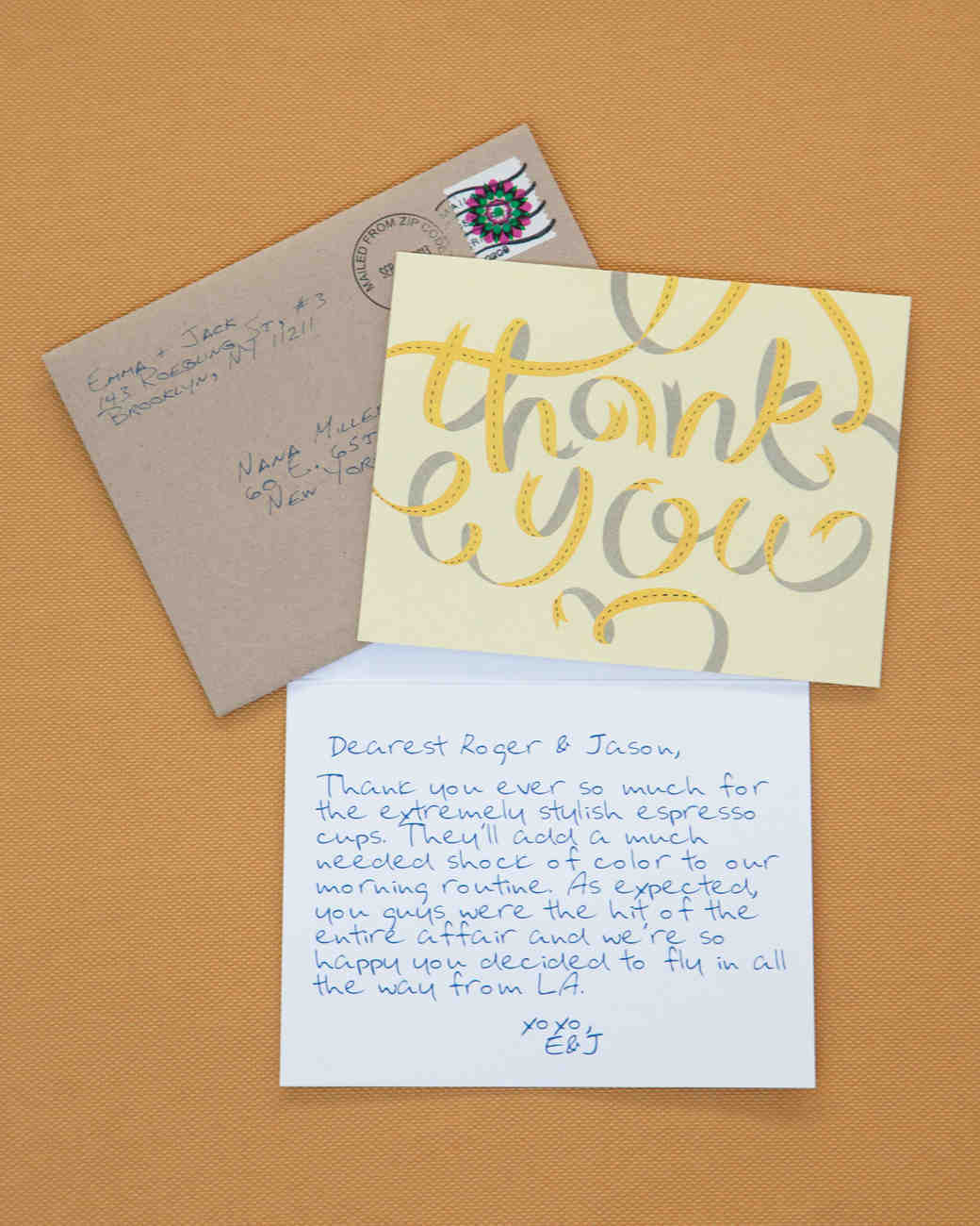 thank you note for wedding gift sample%0A Creative ways to say thank you youre welcome martha stewart go digitalkind  of junglespirit Choice Image