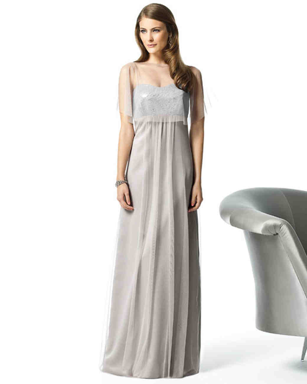 Silver gray bridesmaid dresses martha stewart weddings ombrellifo Image collections