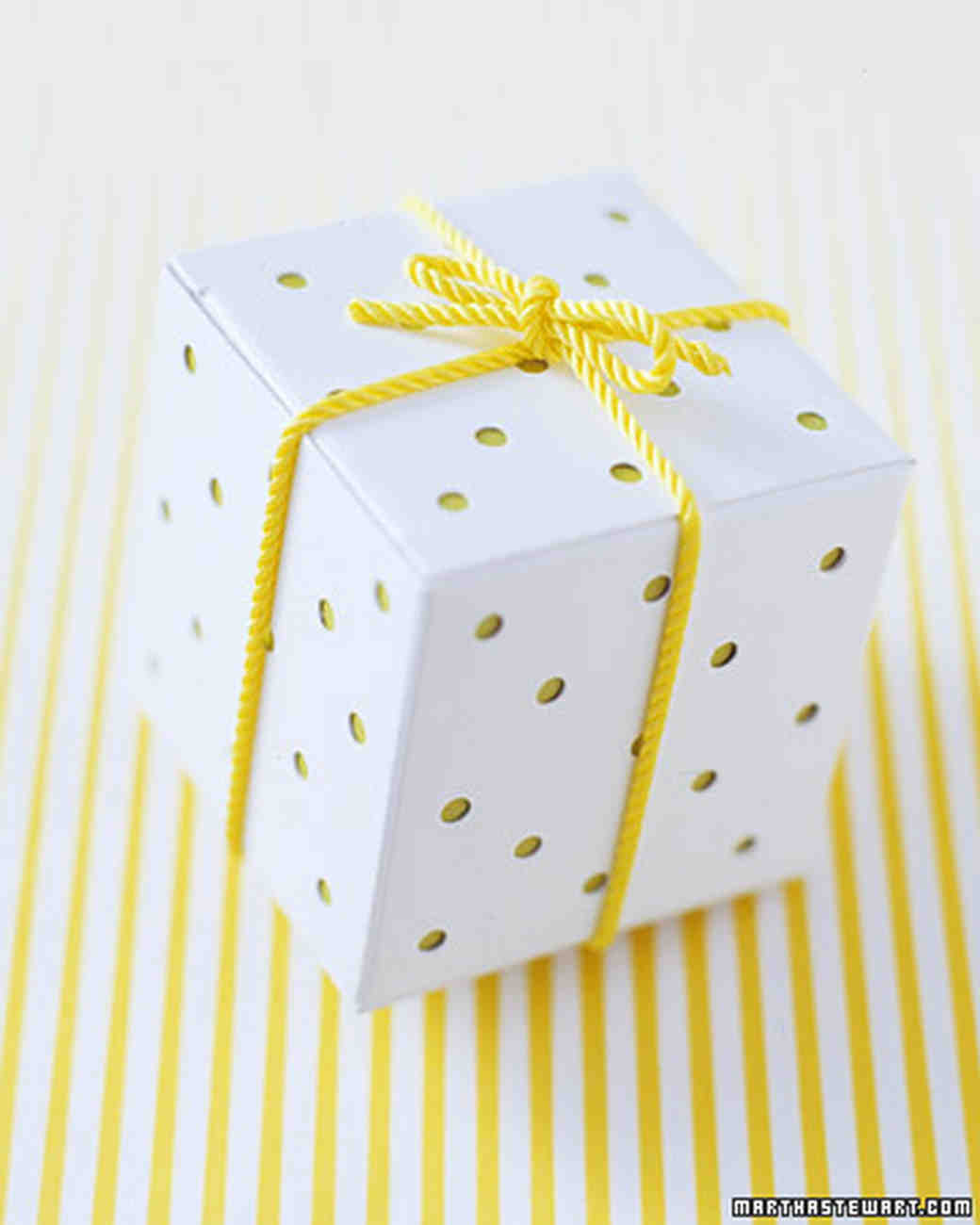 Yellow And White Boxed Favor