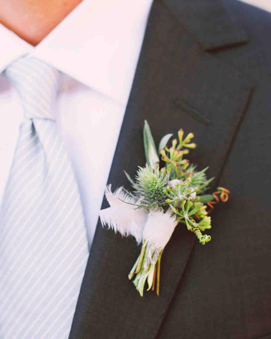 48 boutonnires you both will love martha stewart weddings junglespirit Images