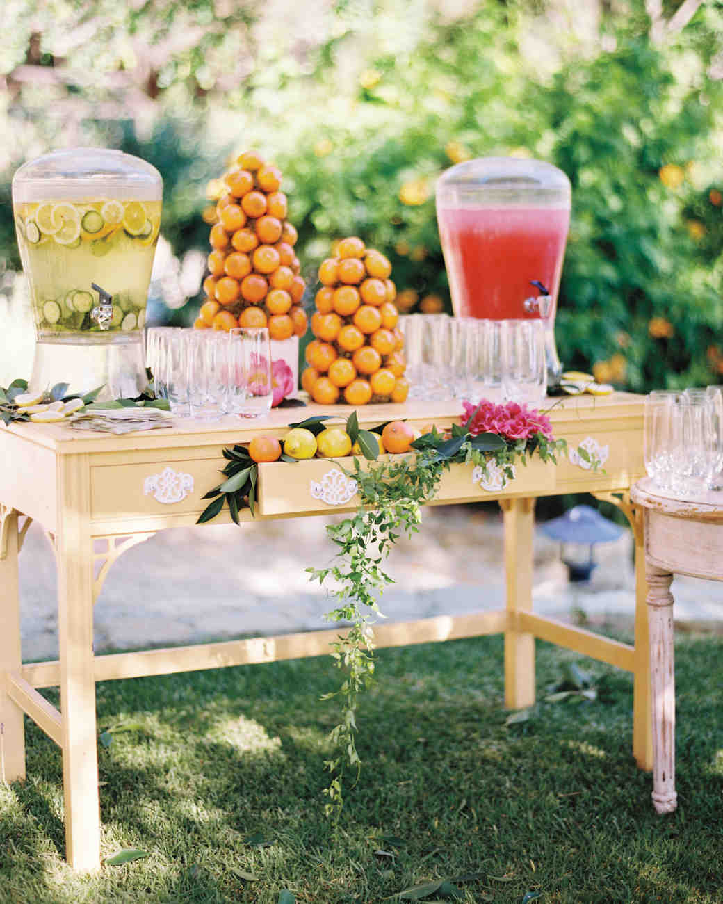 A Whimsical Yellow Orange And Pink Outdoor Wedding In California