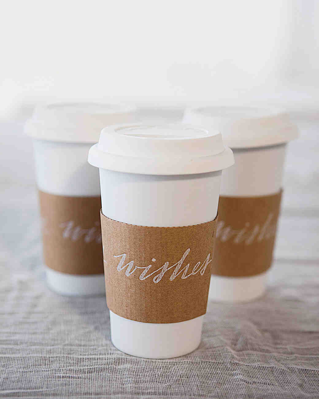 Coffee with Custom Sleeve Favors