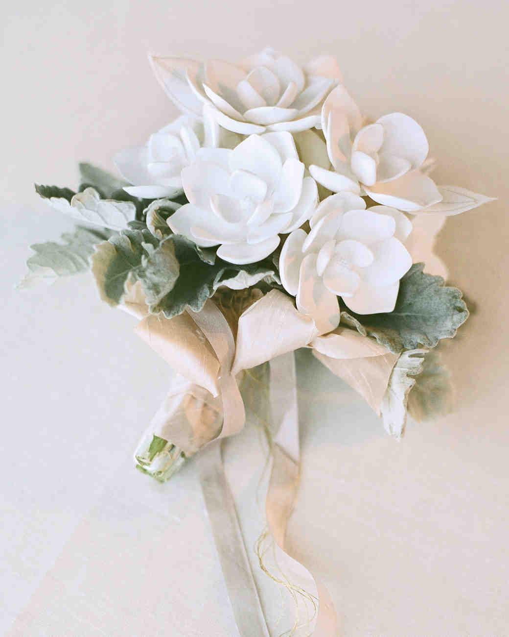 faux flower wedding bouquet
