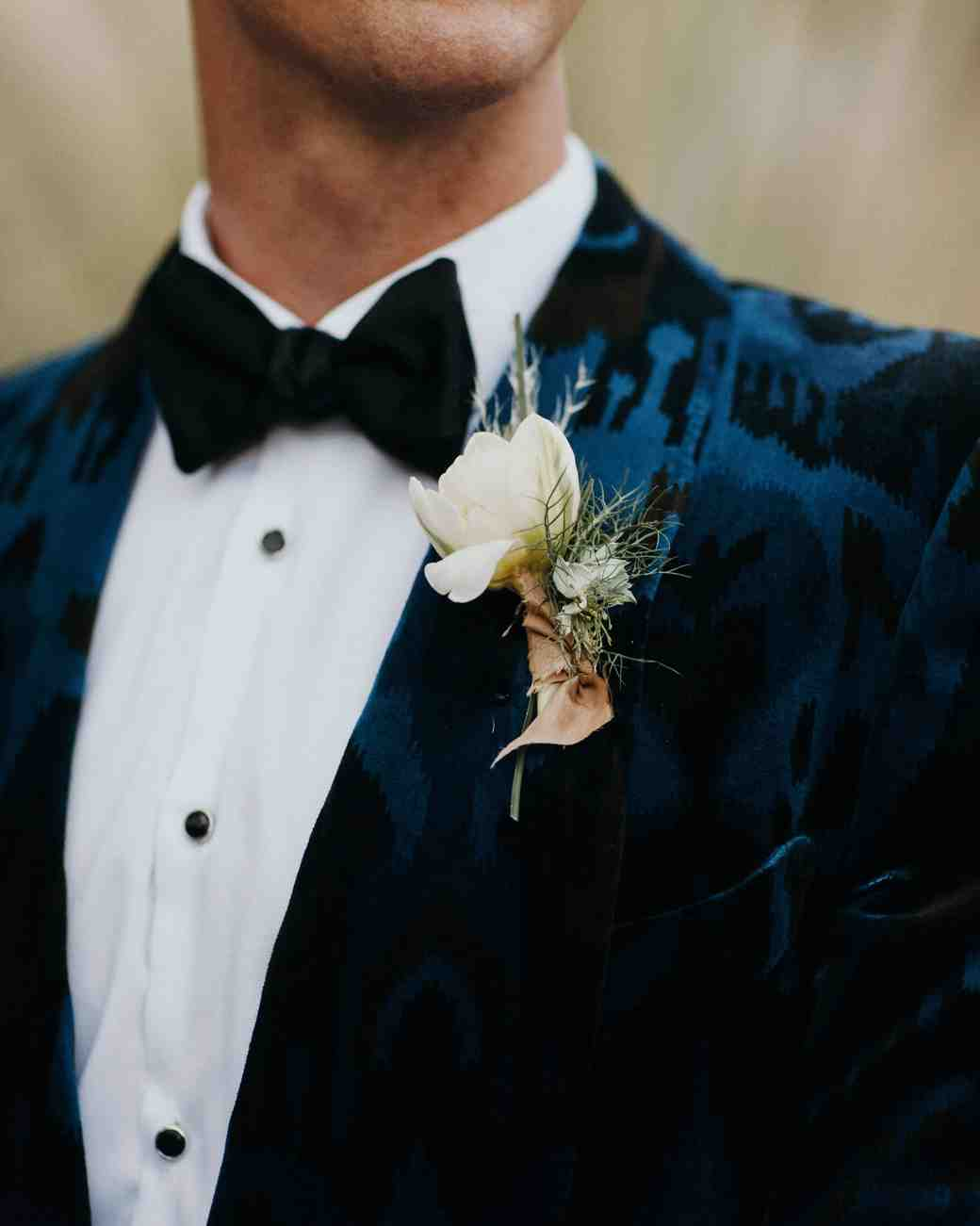 How to boutonniere wear on a shirt rare photo