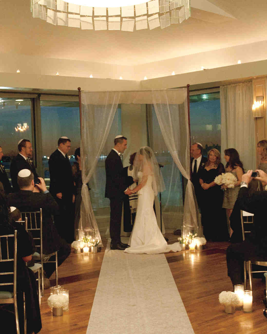 A Modern Black-and-White Wedding in New York City | Martha Stewart ...