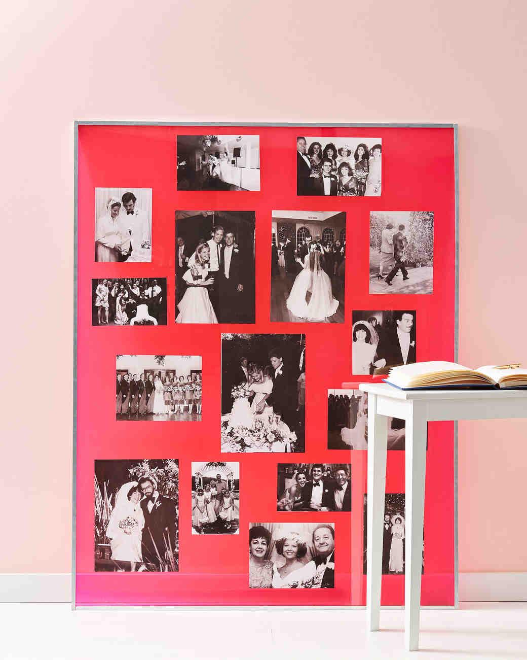 30 Creative Ways to Display Photos at Your Wedding | Martha ...
