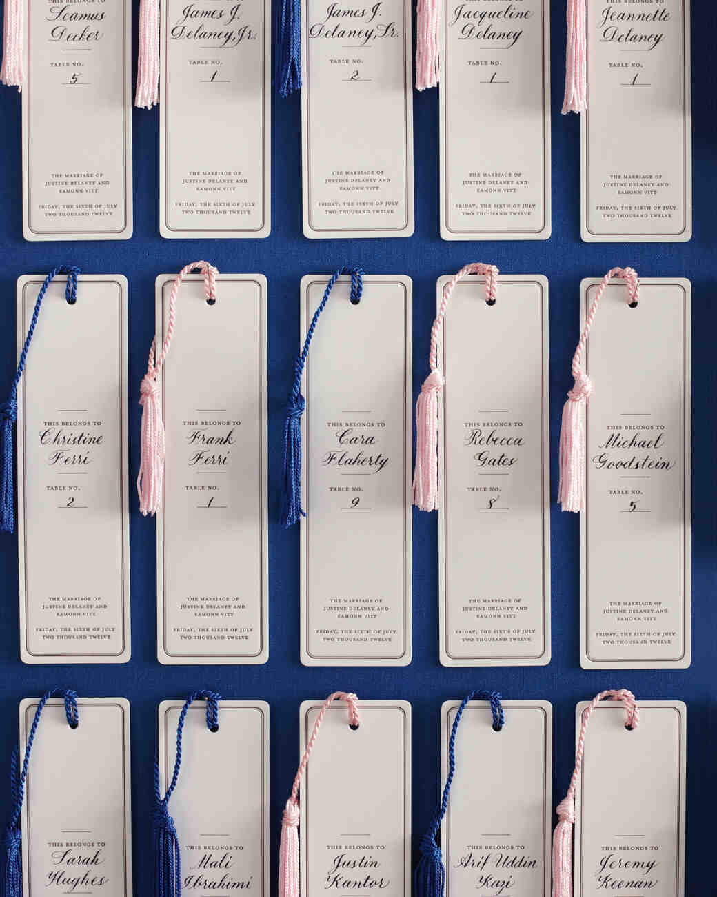 Bookmark Escort Cards