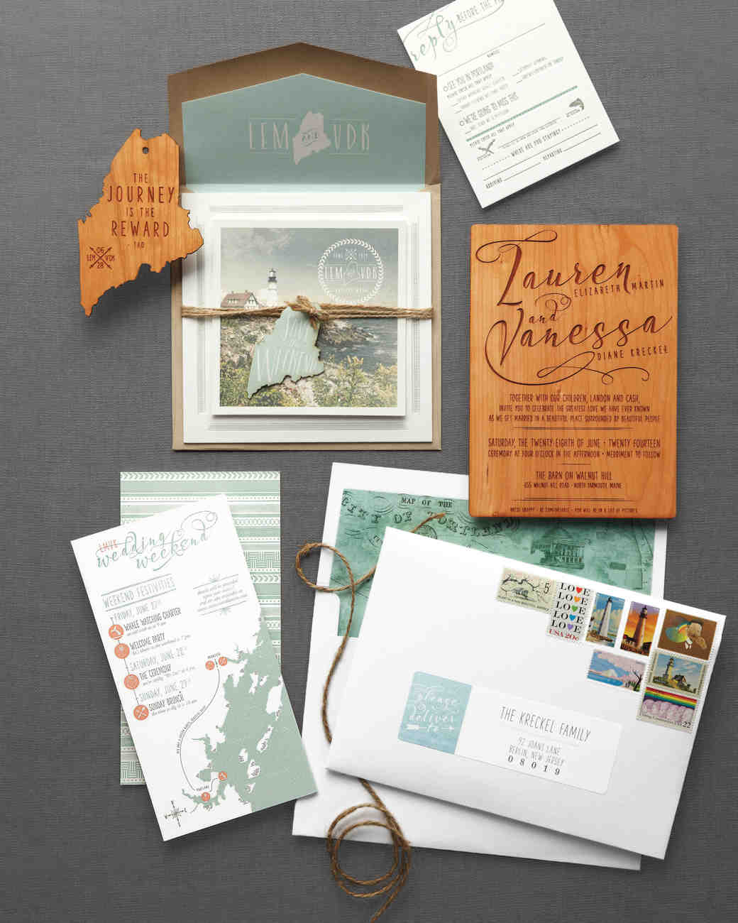 46 Elevated Ideas for Your Rustic Wedding Invitations | Martha ...