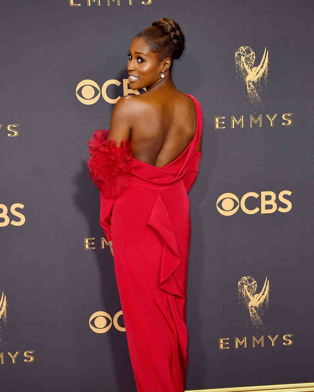 Issa Rae Emmys Red Carpet 2017