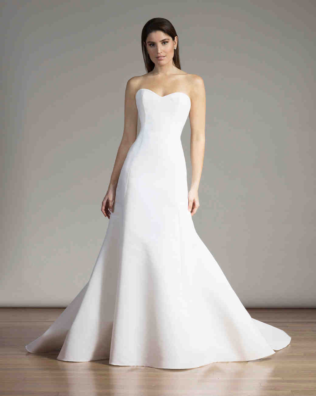 Liancarlo Simple All-White Wedding Dress