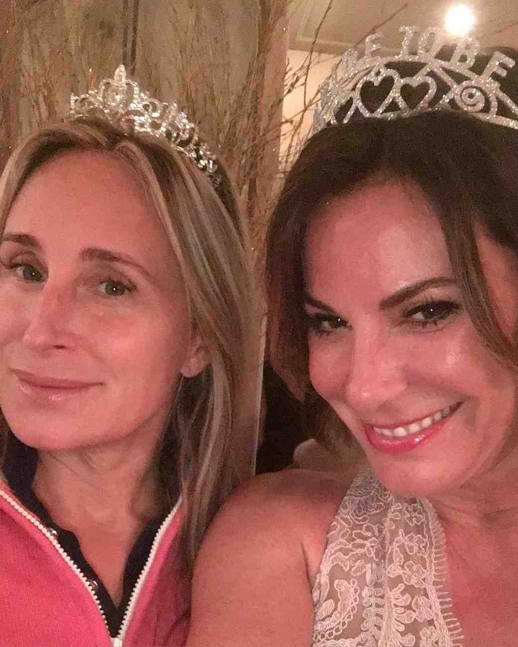 Luann de Lessep's Bridal Shower Tiaras