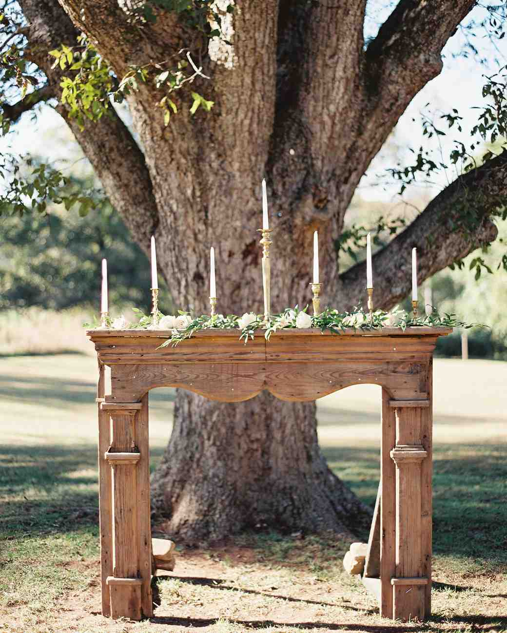 outdoor mantel