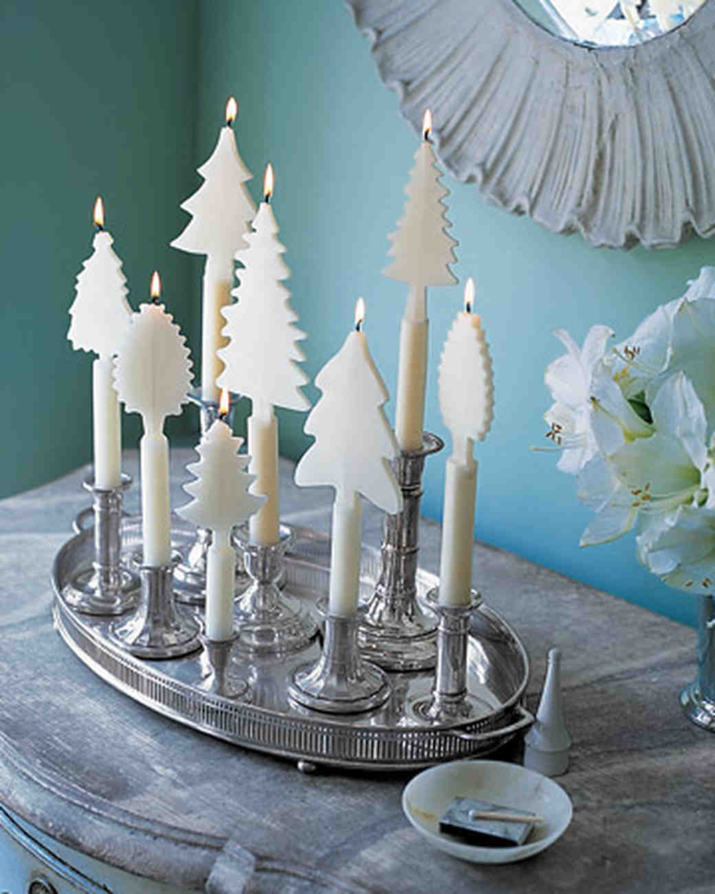 White Tree-Shaped Candles