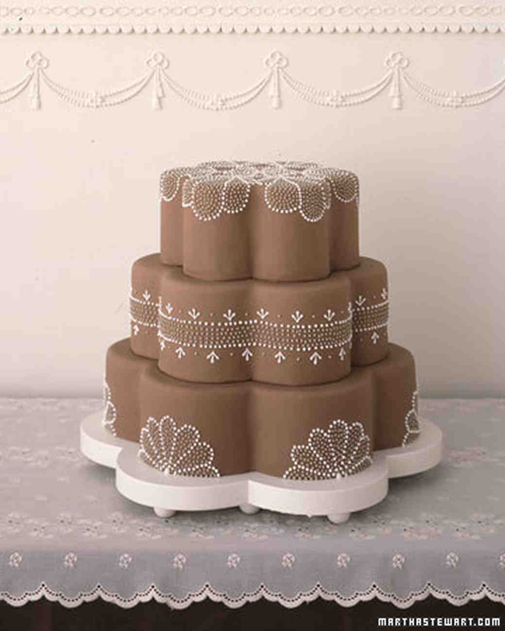 Piped Wedding Cakes