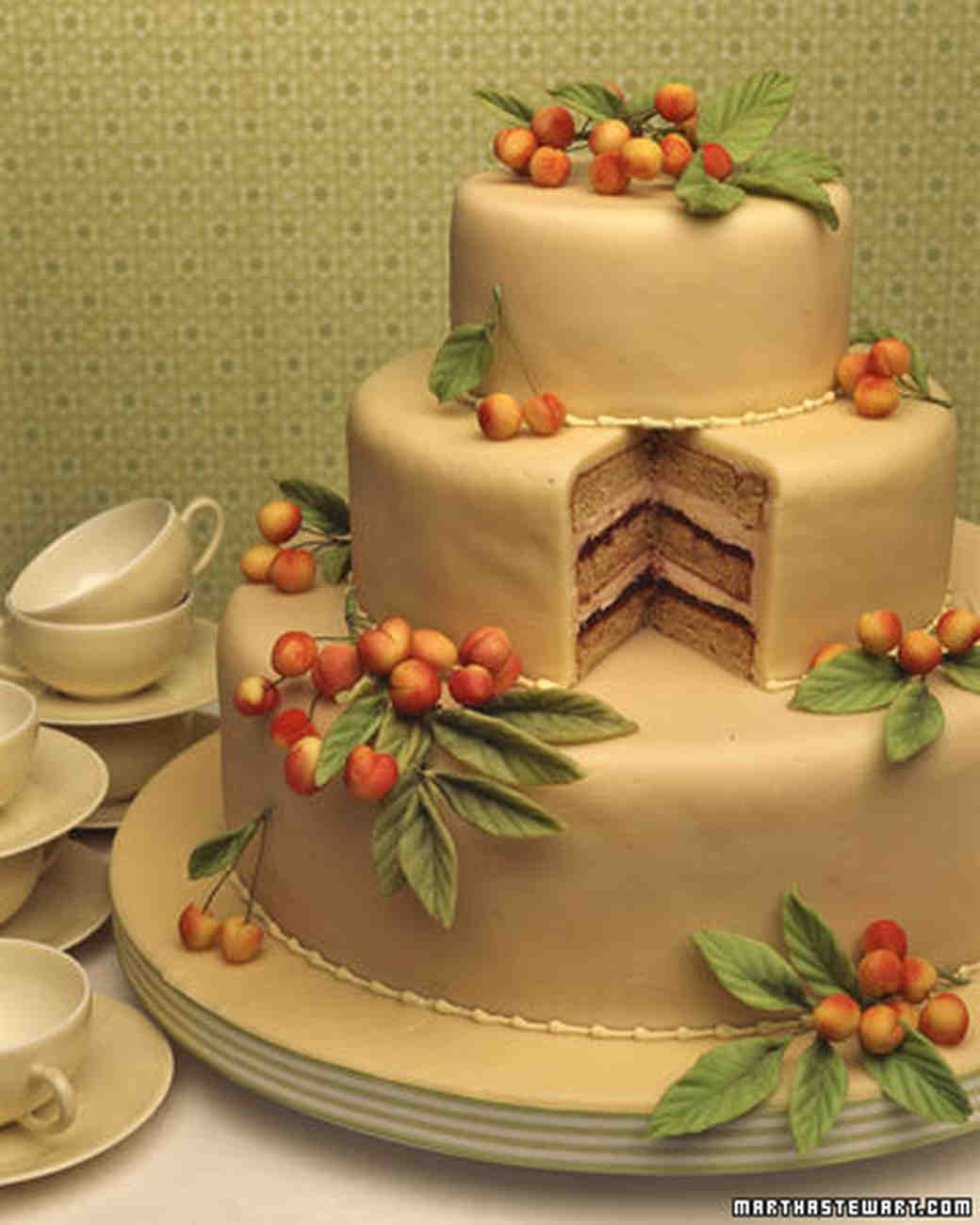 Wedding Cake Recipe.Cherry Almond Cake
