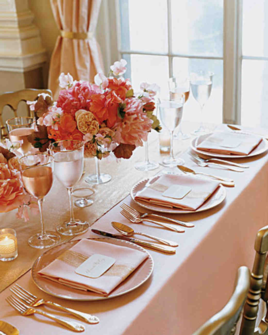 & Wedding Colors: Pink and Gold | Martha Stewart Weddings