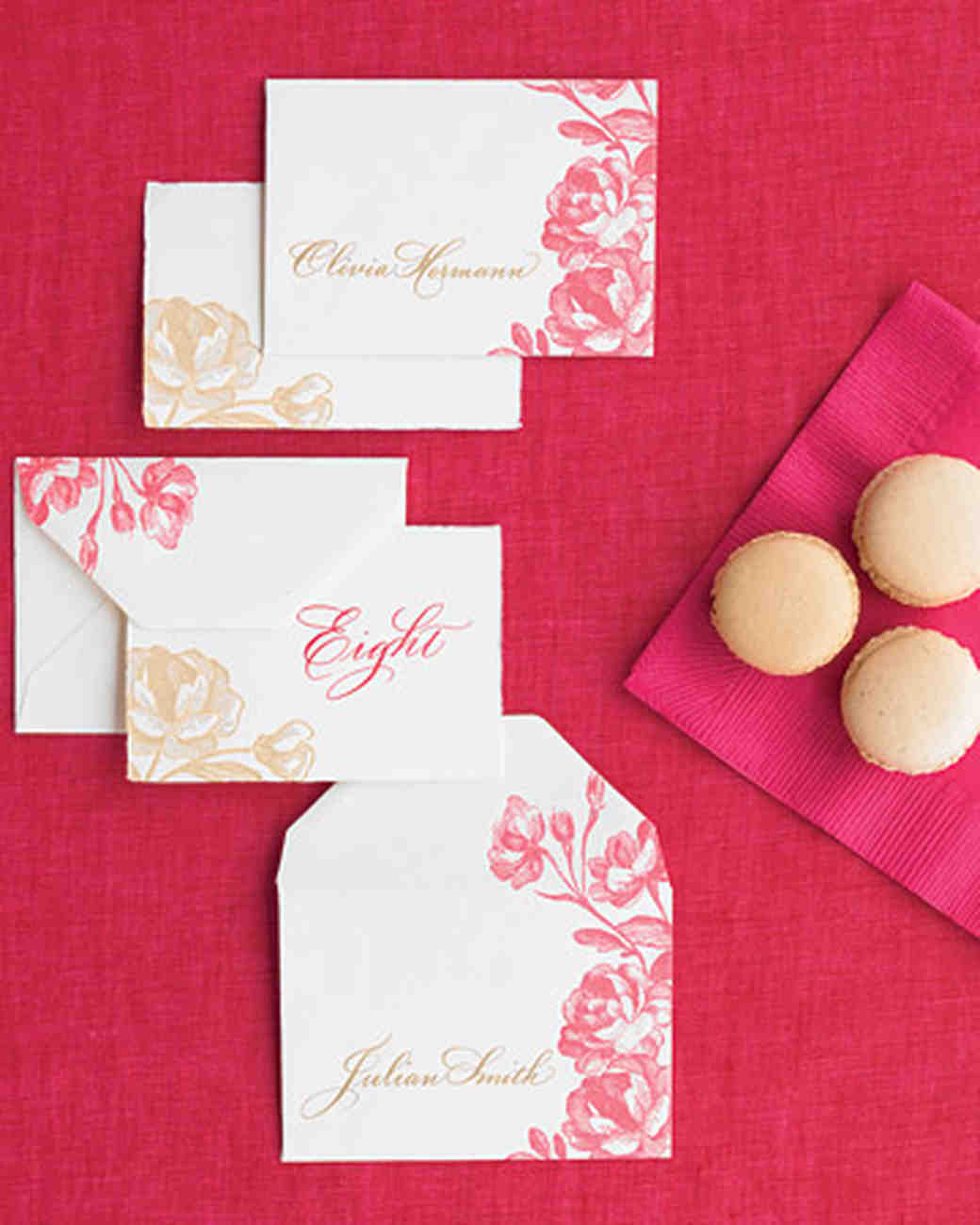 Classic Seating Cards and Displays | Martha Stewart Weddings