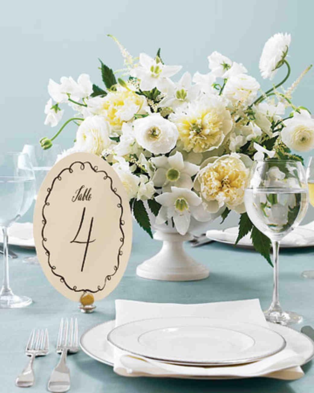 Printable Wedding Table Number Templates | Martha Stewart Weddings