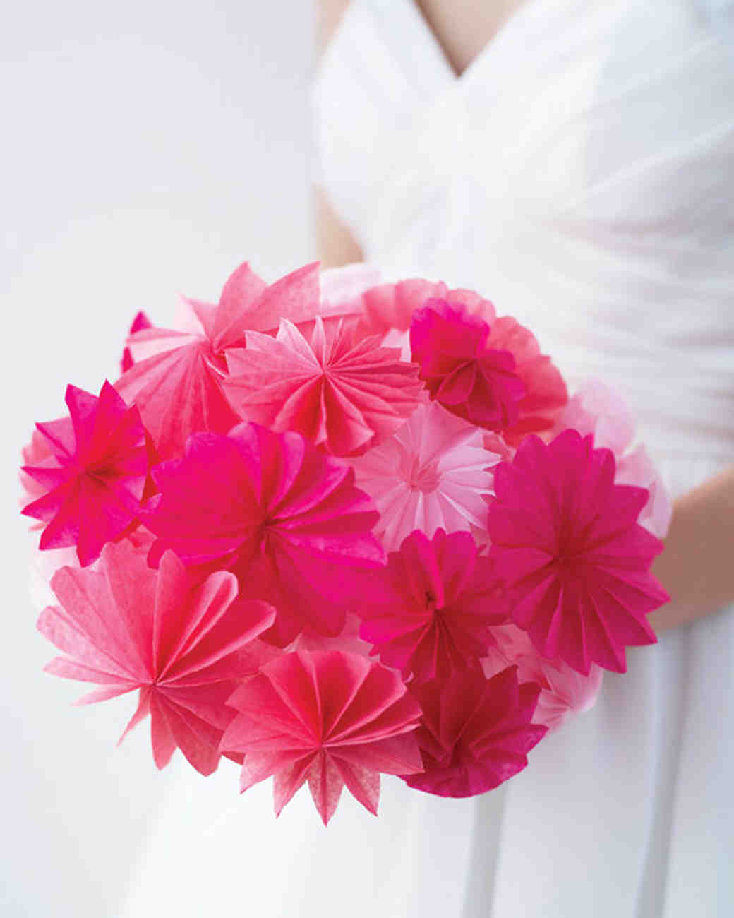 How to make paper and fabric flowers for your wedding martha how to make paper and fabric flowers for your wedding martha stewart weddings izmirmasajfo Image collections