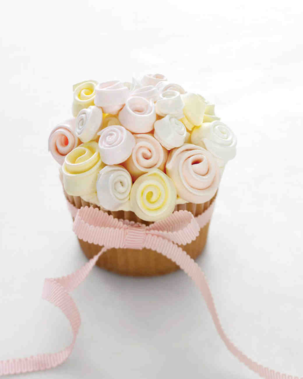 Meringue Bouquet Cupcakes Recipe | Martha Stewart Weddings