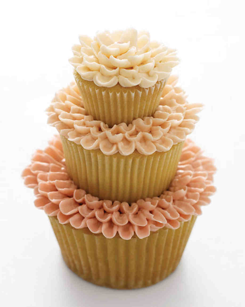 Cupcake Ideas For Wedding: Three-Tier Wedding Cupcakes