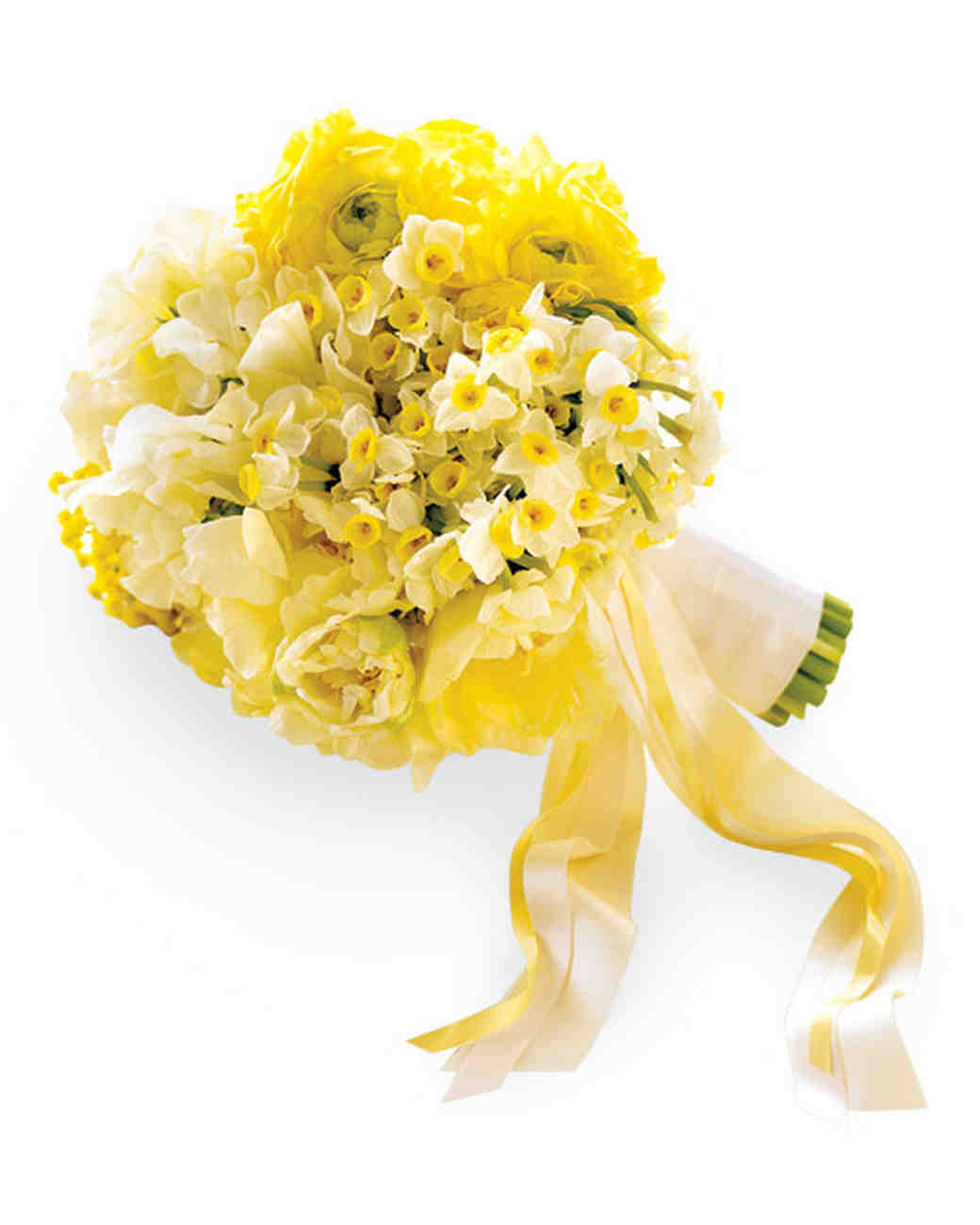 Wedding colors yellow and white martha stewart weddings yellow and white bouquet junglespirit Gallery