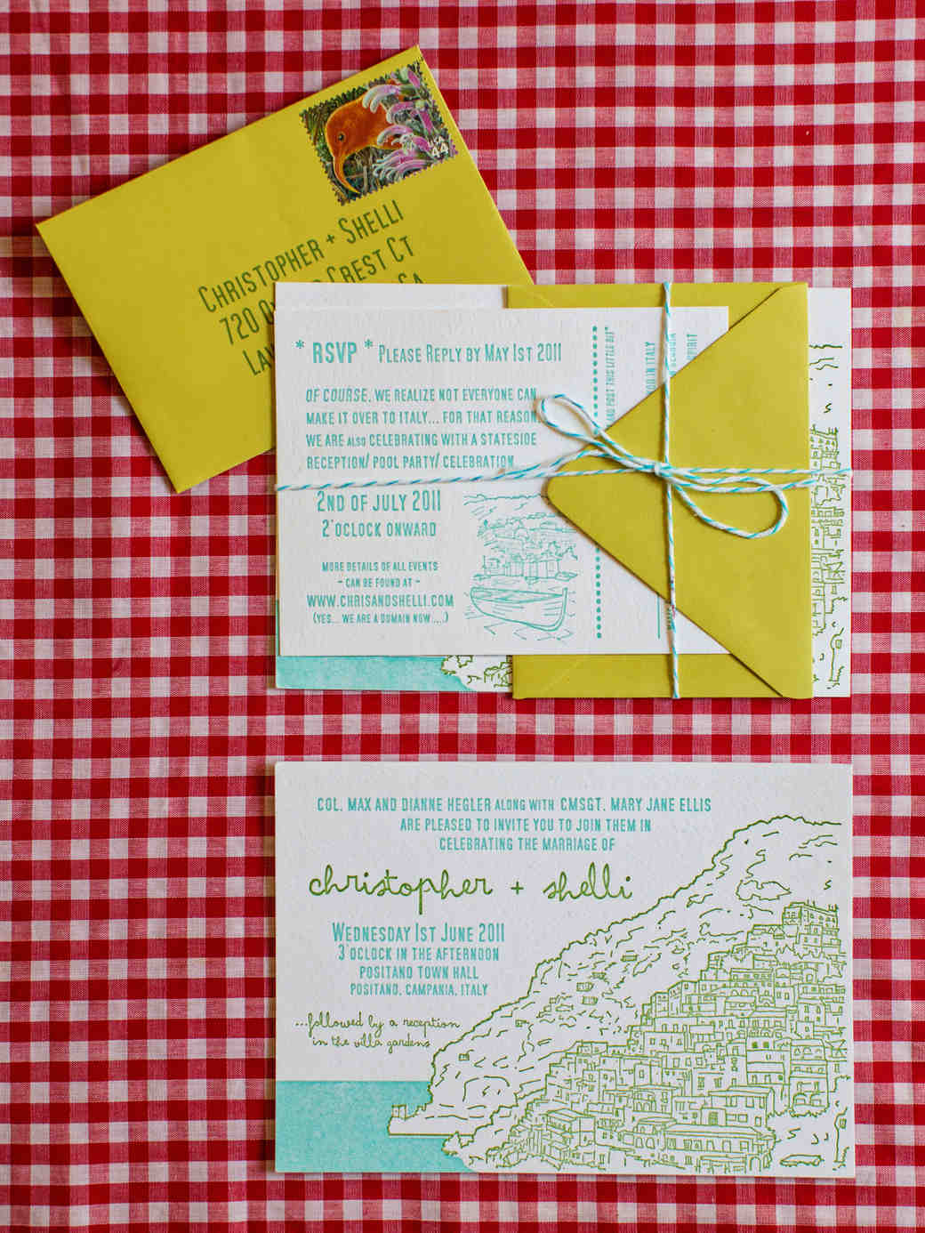 Unique destination wedding invitations