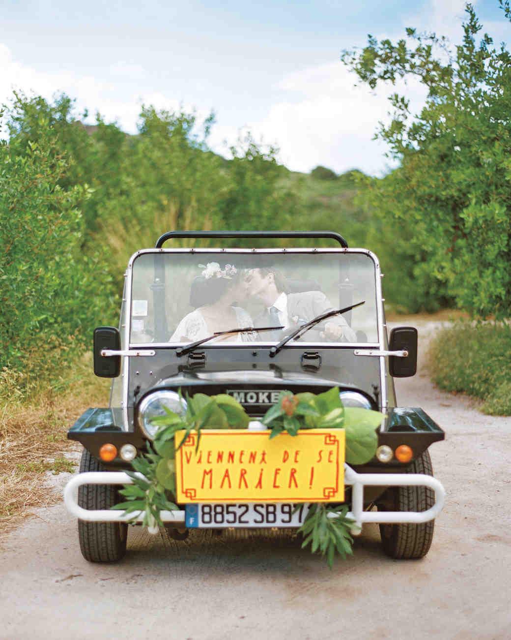 Moke wedding getaway