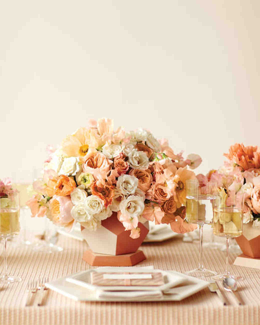 Peaches and cream is a wedding color combination that is set the table junglespirit Gallery