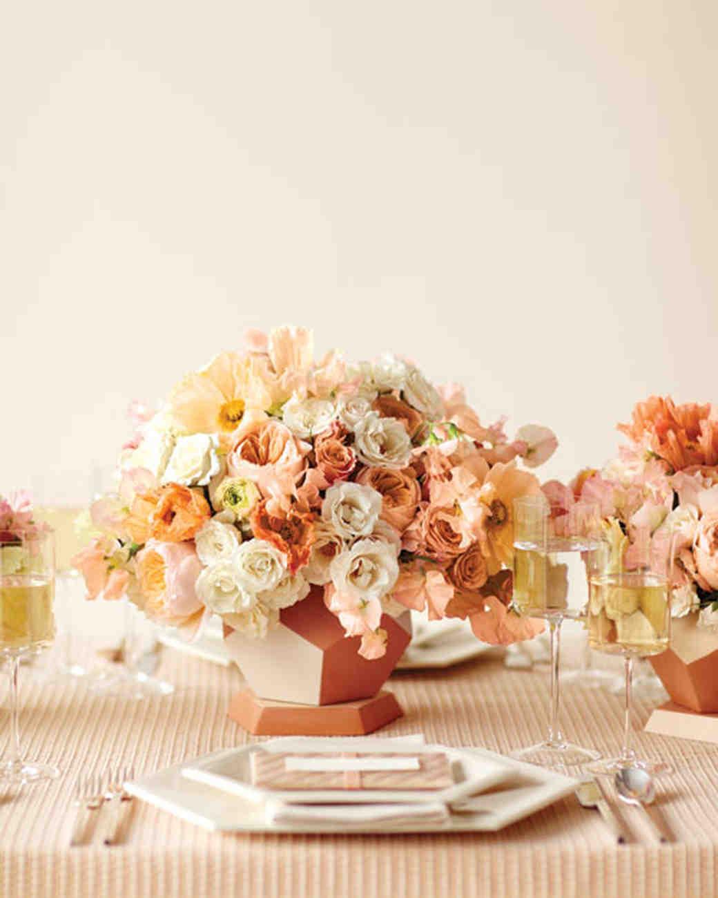 Modern Centerpiece & Rose Wedding Centerpieces   Martha Stewart Weddings