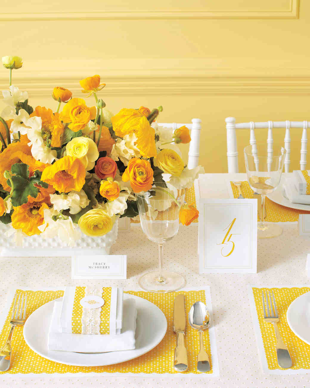 Tabletop Wedding-Decor Clip Art and Templates | Martha Stewart Weddings